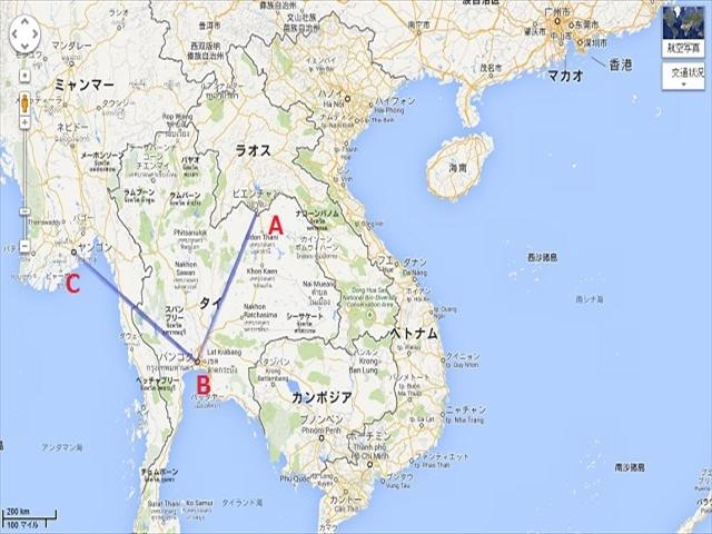 ビエンチェン⇒バンコク⇒ヤンゴン 1000km